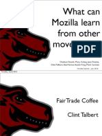 What Mozilla Can Learn From Other Movements