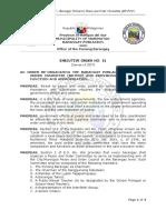 EXECUTIVE ORDER NO. 01 2017 Barangay Poblacion Peace and Order Council