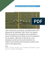 Justin Forsett vs the Patriots