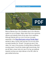 Marcus Mariota and the Vertical Switch Concept