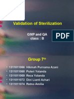 Group7 ClassB Topic5.ValidationOfSterilization