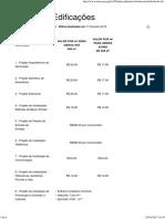 Tabela de Edificações - IMEC