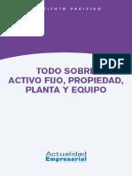 Activo Fijo, Propiedad, Planta y Equipo