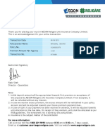 192558776 AEGON RELIGARE Premium Payment Receipt 2013