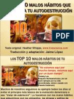10 MALOS HÁBITOS AUTODESTRUCCIÓN