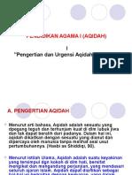Pendidikan Agama i (Aqidah)