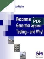 Generator Systems Testing E2PSI Frm6UG06