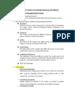 IB Final Exam Notes