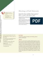 Rheology of Soft Materials