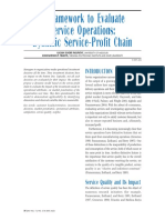 Framework to Evaluate Service Operations
