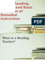 role of reading teacher