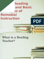 role of reading teacher