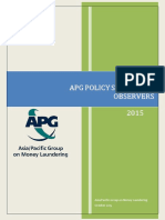 APG Policy Statement - Observejjrs 9 October 2015