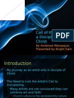 Artist as Disciple