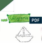 Caligramas sobre los adjetivos