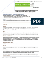 Comparative Analysis of Efficacy of Lignocaine 1.5 Mg_kg and Two Different Doses of Dexmedetomidine (0