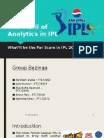 The Thrill of Analytics in IPL