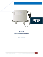 Gsm Remote Switch for Kitchen Catexring Equipment User Manual