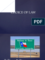 Choice of Law Audrisbb