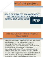 Role of project management in the contruction of BSWL ppt