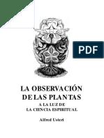 ObservacionPlantas a La Luz de La Ciencia Espiritual