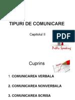 Cap 2 Tipuri de Comunicare