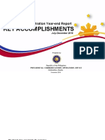 The Duterte Administration Year-End Report KEY ACCOMPLISHMENTS (July-December 2016)