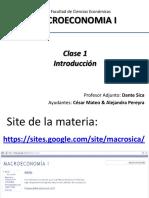 Clase de macroeconomía del magnifico SICA