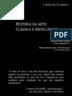 Classico Anticlassico - Aula 1