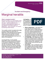A e Marginal Keratitis