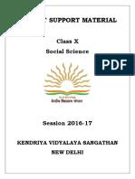 Class-X SST (English) Term-I
