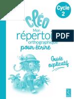 Guide Explicatif - Mon Répertoire Orthographique Pour Écrire (RETZ)