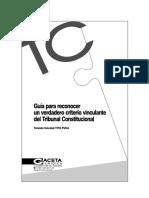 YOLANDA SOLEDAD TITO PUCA - GUIA PARA CONOCER UN VERDADERO CRITERIO VINCULANTE DEL TRIBUNAL CONSTITUCIONAL