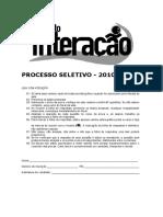 Prova Interacao 2010