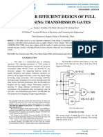 A LOW POWER EFFICIENT DESIGN OF FULL ADDER USING TRANSMISSION GATES