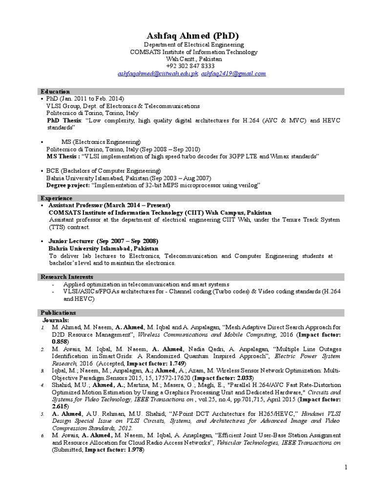 CV   Institute Of Electrical And Electronics Engineers   Field Programmable  Gate Array
