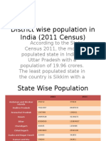 District Wise Population in India 2011 Census