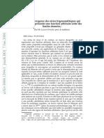 Sur La Convergence Des Séries Trigonométriques Qui Servent à Représenter Une Fonction Arbitraire Entre Des Limites Données