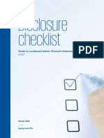 Interim Disclosure Checklist 2016 March