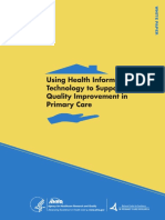 Using Health IT Technology to Support QI