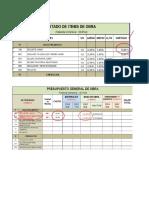 Ejemplo - Proceso Análisis Presupuesto (APU)