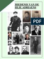 GESCHIEDENIS VAN DE FAMILIE ADRIAENS UIT DENDERHOUTEM, O. VL., BELGIE