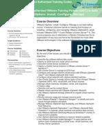 VMware VSphere ICM v6 0 Course Ouline (1)