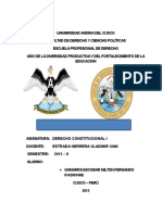 Monografia de La Constitucion