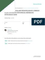 Model Baru Dalam Penanganan Limbah Elektronik Di Indonesia Berbasis Integrasi Seni