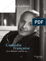 Comedie Francaise - Fabrice Luchini