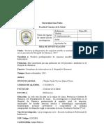 Título Del Registro de Control Idea de Investigación