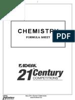 Chemistry Formula Booklet
