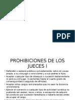 Prohibiciones de Los Jueces