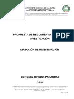 Propuesta de Reglamento de Investigacion Marzo 2017